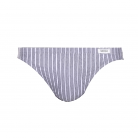 Slip Hom gris à rayures verticales blanches