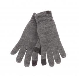 Gants Jack & Jones gris chiné spécial écran tactile