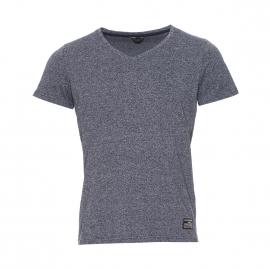Tee-shirt col V et manches courtes Core by Jack & Jones bleu marine chiné