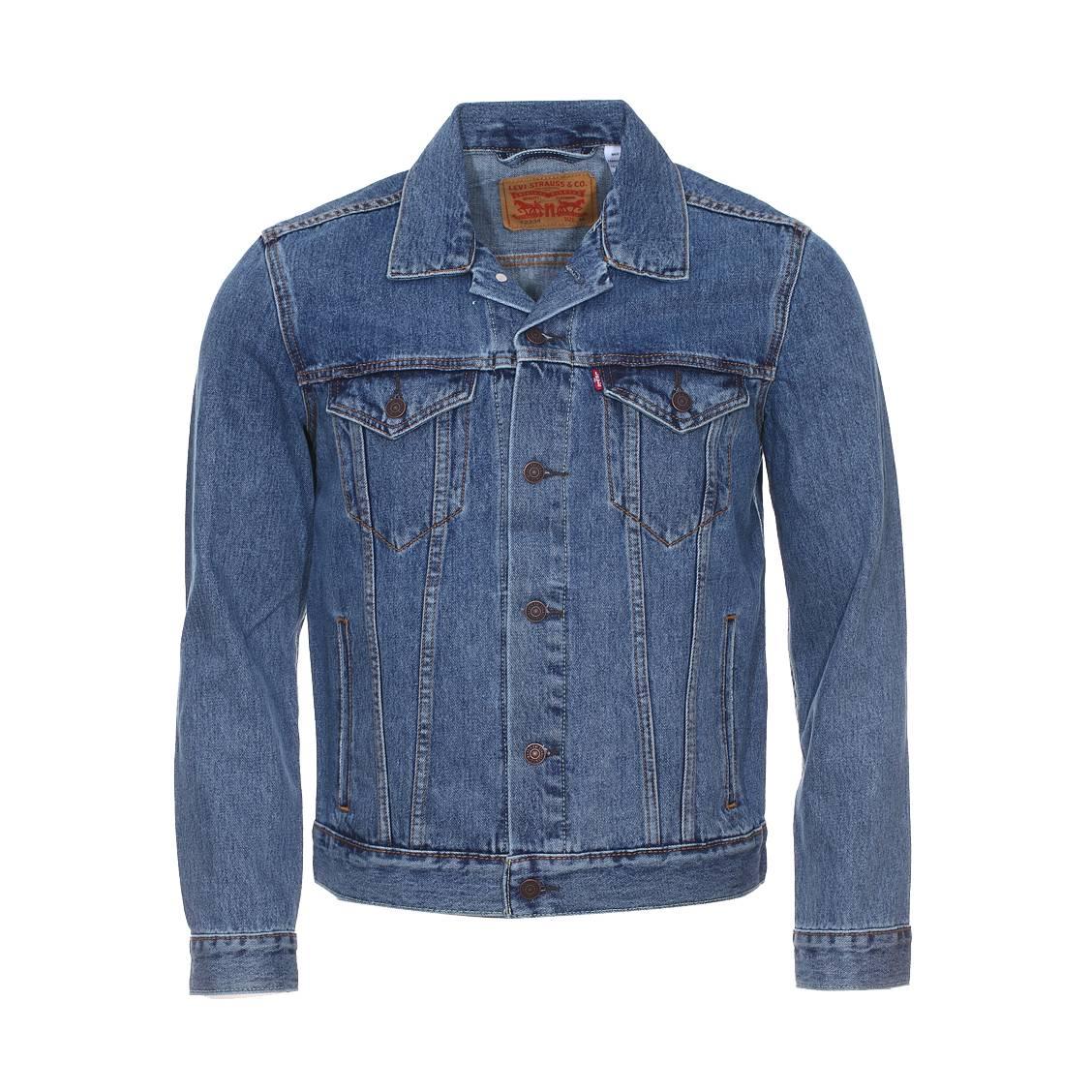 Veste en jean trucker levi\'s bleu clair vintage