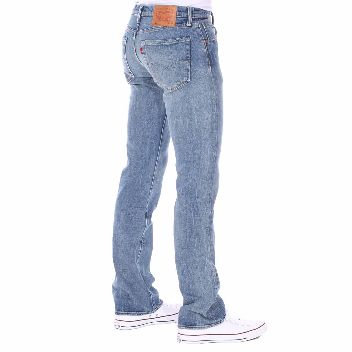 jean levi 39 s 527 low boot cut fine tuned bleu clair rue des hommes. Black Bedroom Furniture Sets. Home Design Ideas