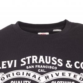 Sweat Levi's noir imprimé logo vintage