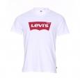 Tee-shirt col rond Levi's Housemark en coton blanc floqué du logo en rouge