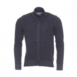 Cardigan boutonné Marc O'Polo en laine et coton gris anthracite vintage