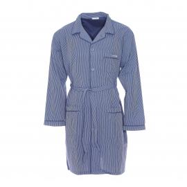 Liquette chemise Mariner en coton bleu à rayures bleu marine et grises