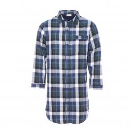 Liquette chemise Mariner en coton à carreaux bleus, verts et blancs