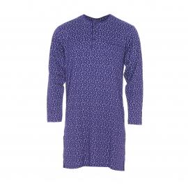 Liquette Mariner en coton bleu marine à motifs gris et bleu clair