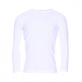 Tee-shirt manches longues col rond Mariner en coton blanc