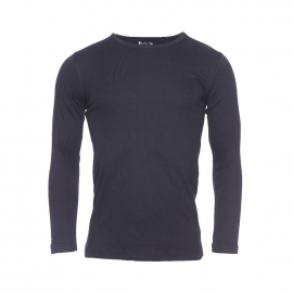 Tee-shirt manches longues col rond Mariner en coton noir