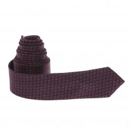 Cravate noire et violette à motifs