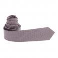Cravate grise à motifs entrelacés