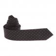 Cravate noire à petits losanges gris