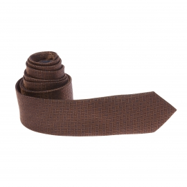 Cravate bronze à motifs