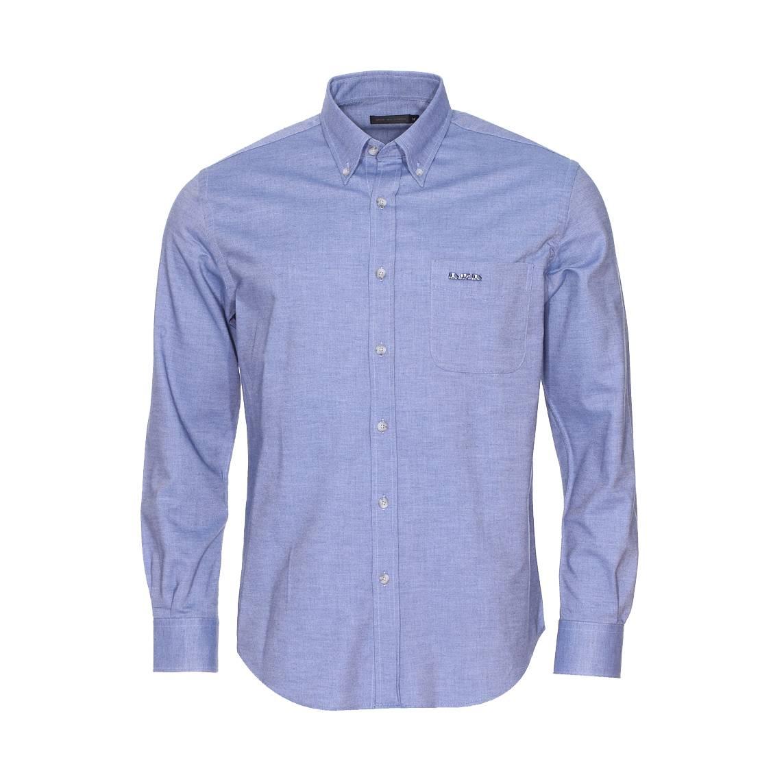 chemise manches longues mise au green en coton bleu chin. Black Bedroom Furniture Sets. Home Design Ideas