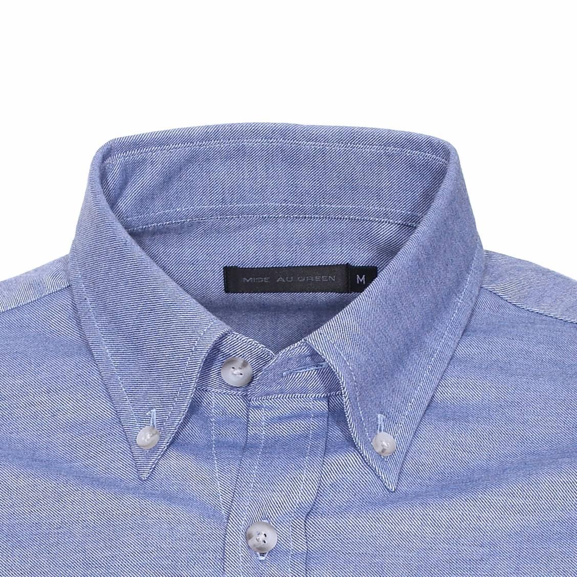 chemise manches longues mise au green en coton bleu chin rue des hommes. Black Bedroom Furniture Sets. Home Design Ideas