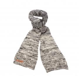 Echarpe Petrol Industries tricotée en mailles gris clair et noires