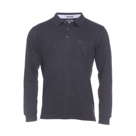 Polo Pierre Cardin en coton gris anthracite