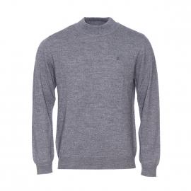 Pull Pierre Cardin en laine gris chiné