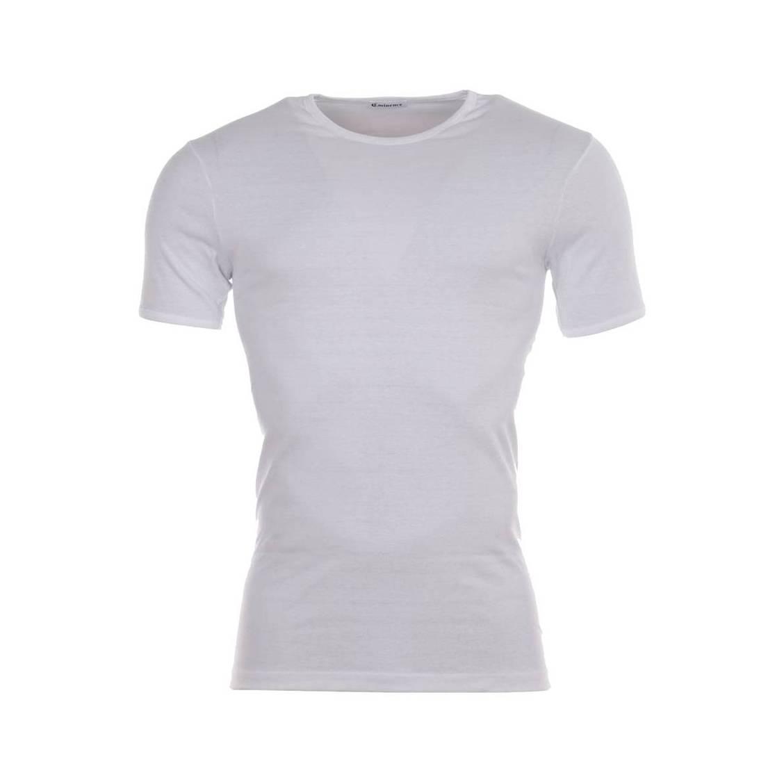 Tee-shirt col rond  en coton blanc