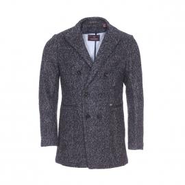 Manteau Scotch & Soda en laine gris anthracite et gris clair