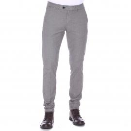 Pantalon ajusté Scotch & Soda gris à motifs losanges ton sur ton