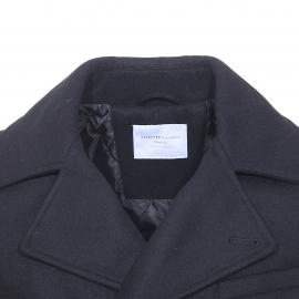 Caban Selected en drap de laine noir
