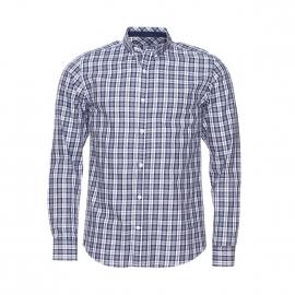 Chemise ajustée Selected en coton à carreaux bleus et gris