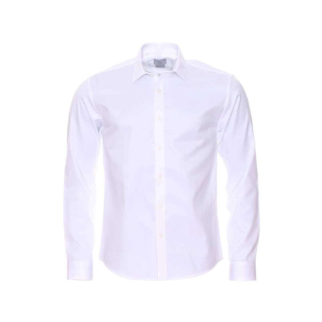 Chemise ajustée  100% en coton blanc
