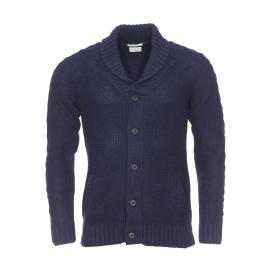 Cardigan col châle Selected en laine bleu marine chiné noir