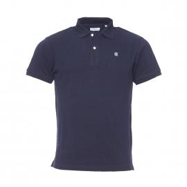 Polo série limitée Cocotte Serge Blanco en coton bleu marine brodé au dos