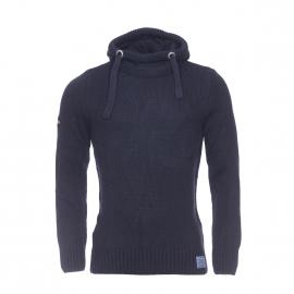 Pull à capuche Stealth Superdry en laine mélangée à fines mailles bleu marine