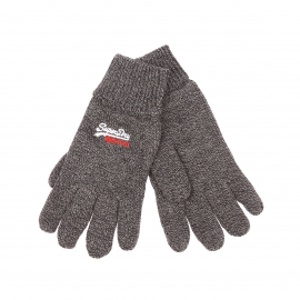 Gants Superdry gris anthracite chiné