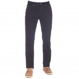 Pantalon TBS en coton stretch noir à ceinture semi-élastiquée