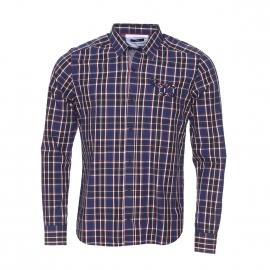 Chemise manches longues TBS à carreaux bleus, blancs et rouges