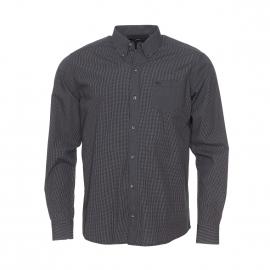 Chemise manches longues TBS à carreaux noirs et blancs