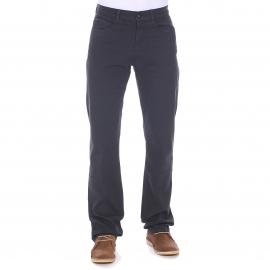 Pantalon droit TBS en coton stretch gris foncé