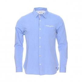 Chemise cintrée Carlos Teddy Smith en coton bleu clair