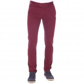 Pantalon chino slim Teddy Smith en coton stretch bordeaux