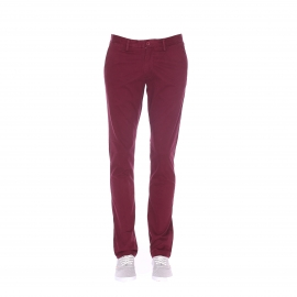 Pantalon chino slim Teddy Smith en coton stretch bordeaux