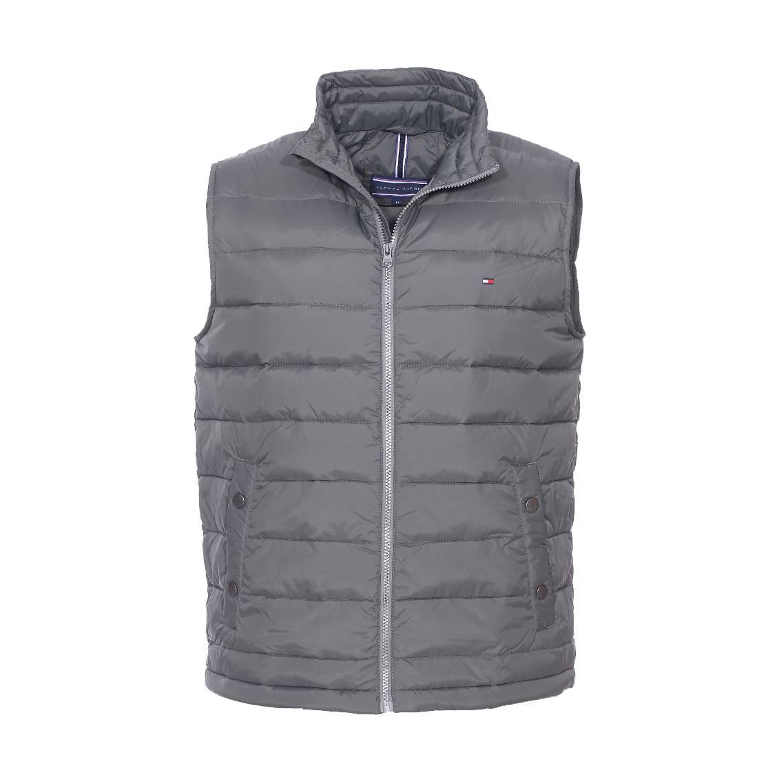 doudoune sans manches ripstop vest tommy hilfiger gris. Black Bedroom Furniture Sets. Home Design Ideas