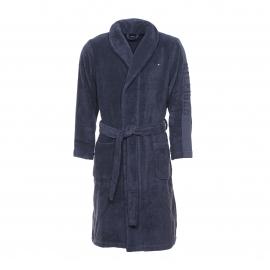 Peignoir de bain Corentin Tommy Hilfiger en coton peigné bleu nuit