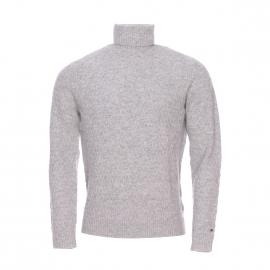 Pull col roulé Rubin Tommy Hilfiger en pure laine gris clair chiné