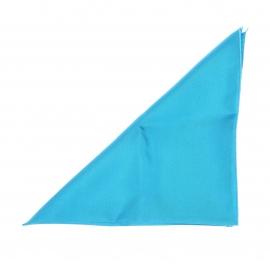 Pochette en soie bleu azur pour costume