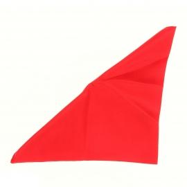 Pochette en soie rouge pour costume