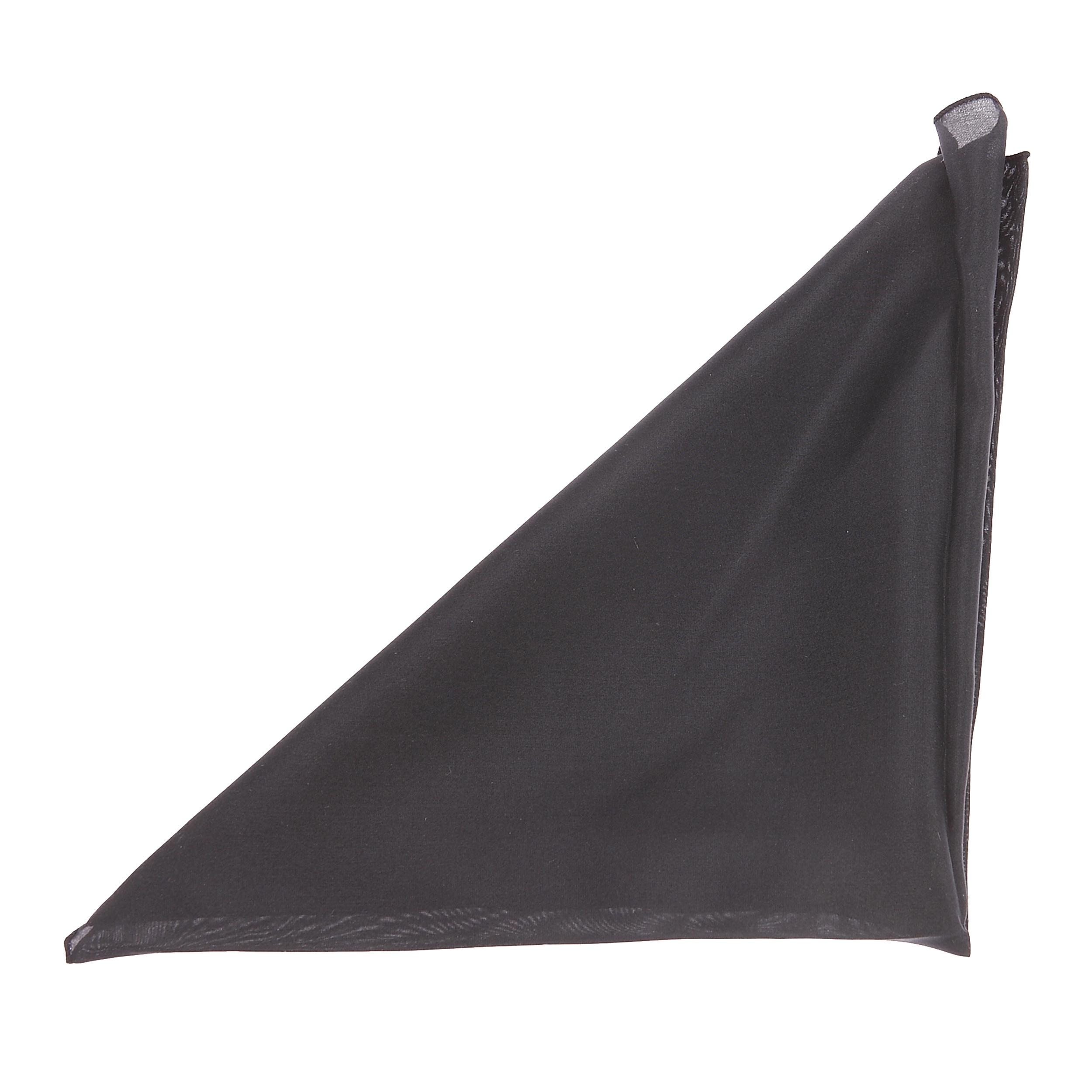 Pochette en soie noire pour costume