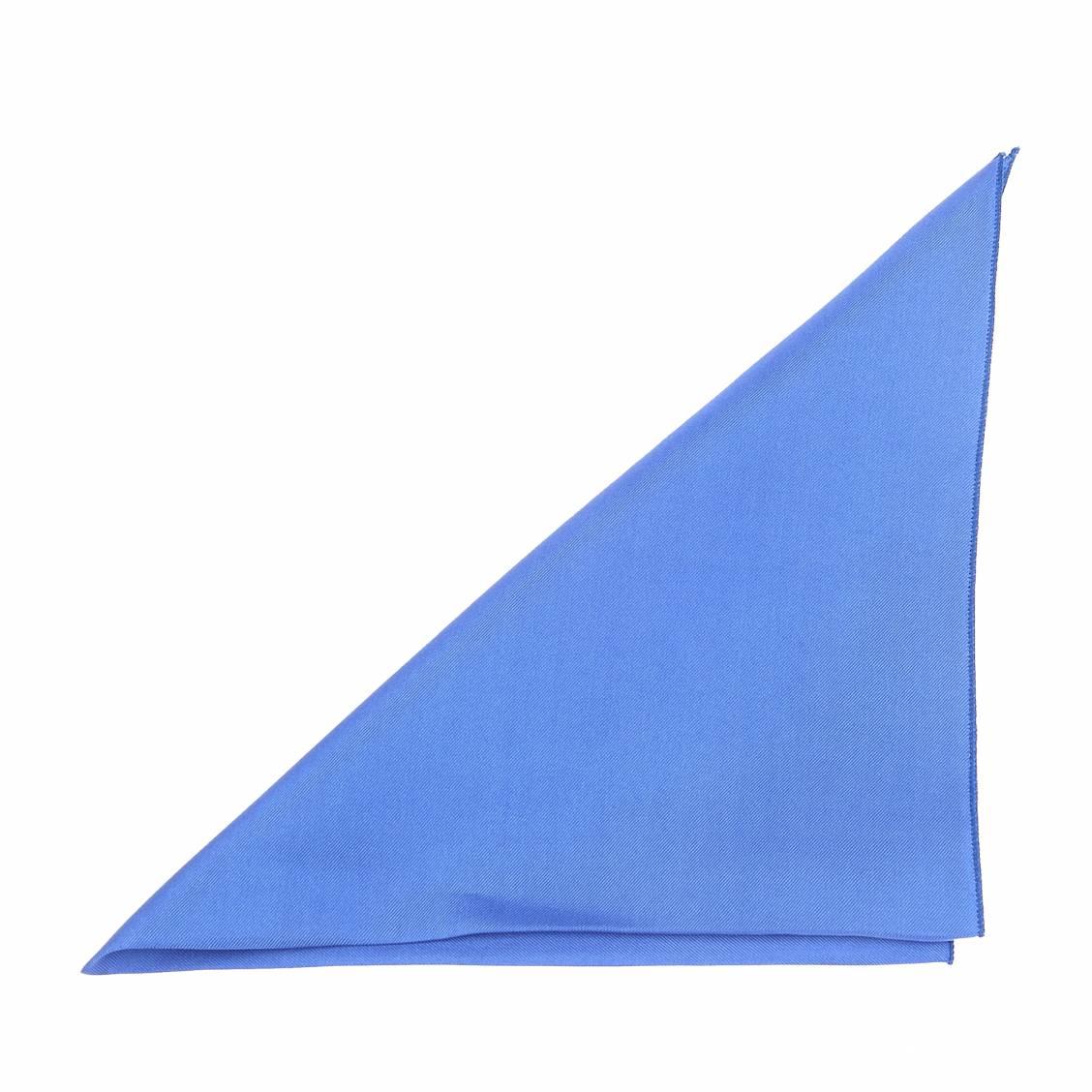 Pochette En Soie Bleu Cobalt Pour Costume Rue Des Hommes