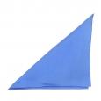 Pochette en soie bleu cobalt pour costume