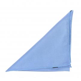 Pochette en soie bleu glacé pour costume