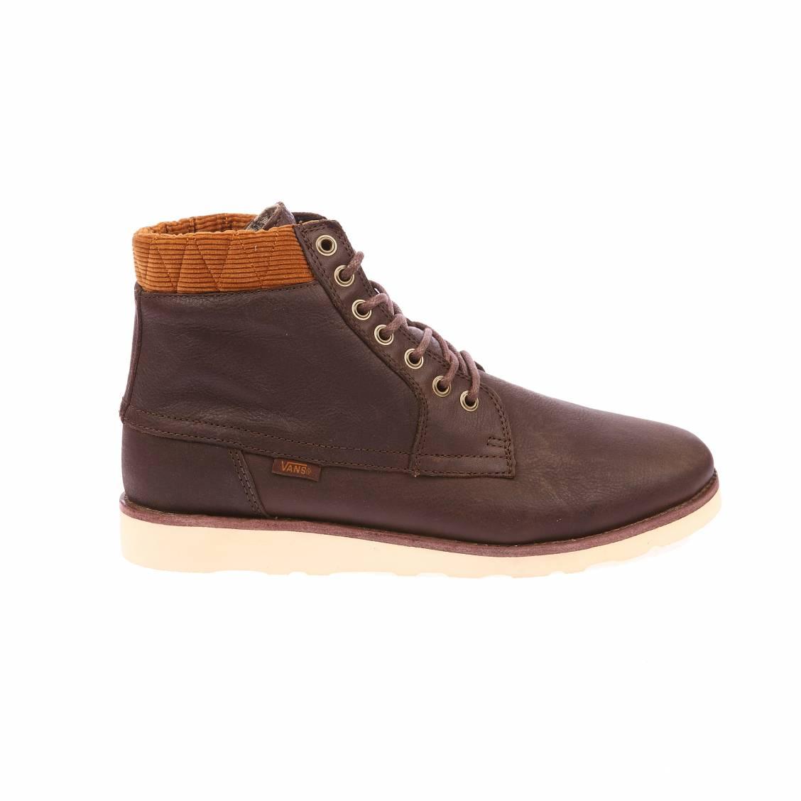chaussures montantes breton boot se vans en cuir marron rue des hommes. Black Bedroom Furniture Sets. Home Design Ideas