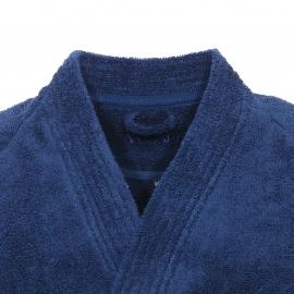 Peignoir de bain éponge Tokio Supersoft Vossen en coton bleu marine